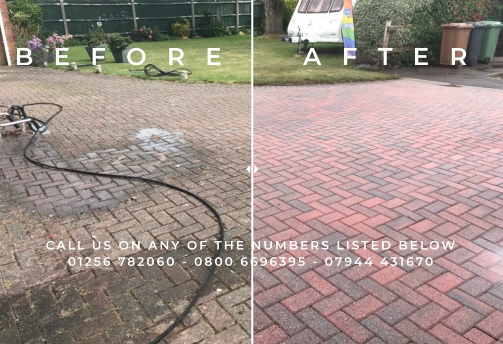 Hoopers Way Pressure Washing Oakley Basingstoke Before And After